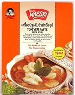 Maesri Tom Yam Paste 3.5 Oz (100g) - Authentic Thai Cuisine