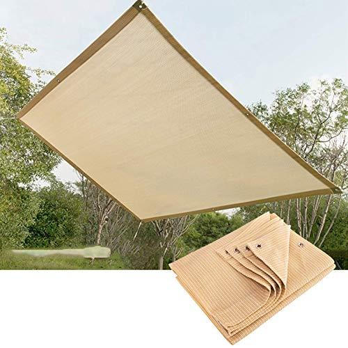 Toldo 90% UV para toldo jardín al Aire Libre,Playa,Patio,Personalizable(Color:Beige,Tamaño:3x5m)