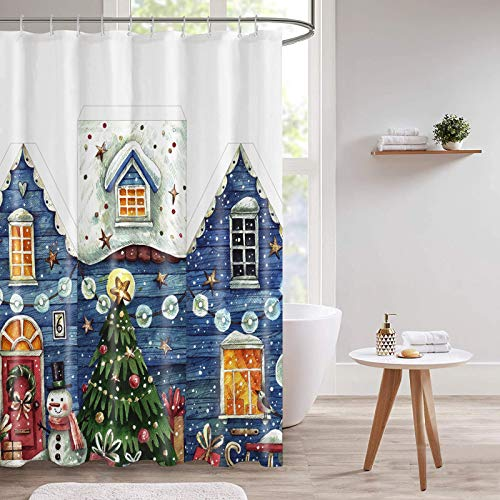 Guiffly Shower Curtain, Water Resistant Polyester...