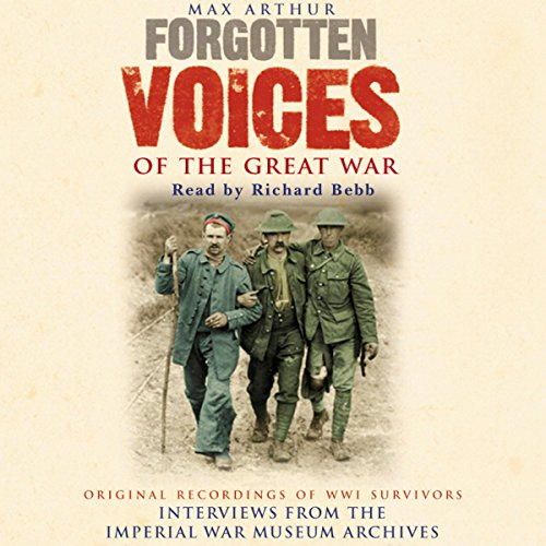 Forgotten Voices of the Great War audiobook cover art