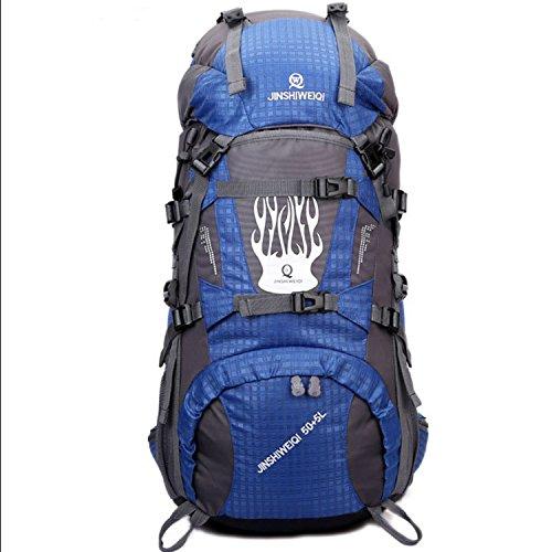 Imperméable à l'eau de sacs à dos sac à dos sport outdoor paquet pour hommes et femmes 60L double sac à bandoulière , blue