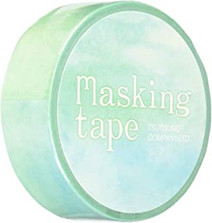 包む マスキングテープ ウォーターカラー グリーン 15mm M0185