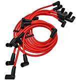 ADP Spark Plugs Wires Sets Igniton Cables Red Silicone High...