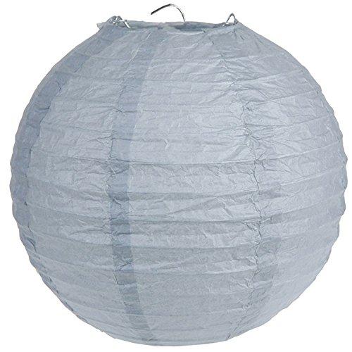 Santex Laternen 20 cm 2 Stück grau - Papierlaternen Lampions Ballon Papierlampion Windlichter - 4312