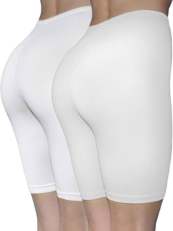 ILKE Women's 2 Pack Cotton Active Dance Running Yoga Boyshorts Boxer Brief Regular Plus Size