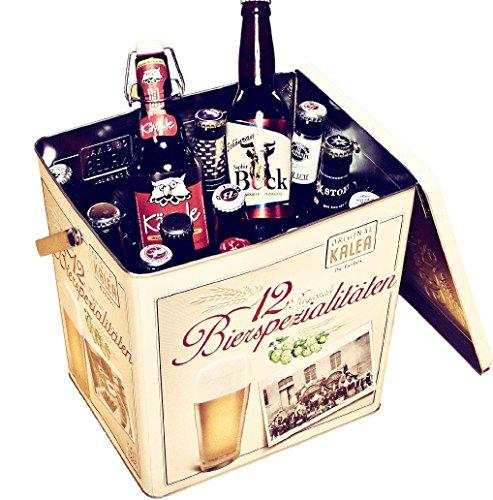 Kalea Beer Box, Metallbox mit 3D-Prägung, Bierspezialitäten, Perfekte Geschenkidee für Männer, Väter und alle Bierliebhaber (Spezialitäten Bier Box)