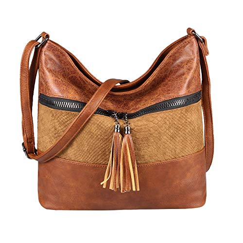 OBC Only-Beautiful-Couture, Borsa tote donna Marrone Cognac 35x29x10 Cm