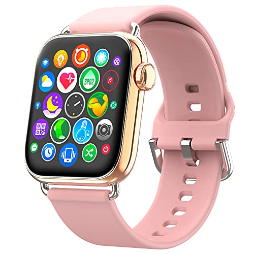 Ezanaki Smartwatch, 1.69 Zoll Armbanduhr mit Fitness Tracker, Fitnessuhr, Uhr mit Schrittzähler, Pulsuhr, Blutsauerstoffsättigung und Schlafmonitor, 5ATM Wasserdicht Sportuhr für Damen Herren