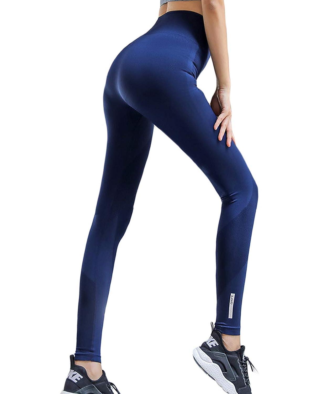 Lalaly レディース ヨガ パンツ 通気 美脚 UVカット ハイウエスト タイツ スポーツ レギンス ロングパンツ フィットネスパンツ ジョギング ランリング トレーニング ヨガウェア 吸汗速乾