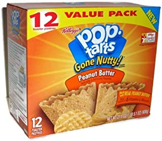 Pop Tarts Gone Nutty! Peanut Butter Flavor Toaster Pastries (Pack of 3)