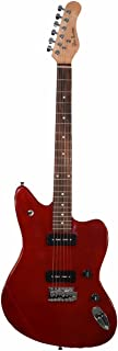Glen Burton 6 String GE39-JG-WR Offset Body Electric Guitar, Wine Red