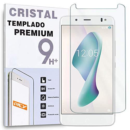 REY Protector de Pantalla para BQ AQUARIS V/VS / U2 / U2 Lite, Cristal Vidrio Templado Premium