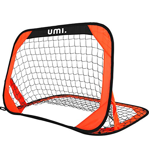 UMI. by Amazon Football Goal Pop Up Goal Net Garden Training Equipment, 1 Pack (Bright Orange)