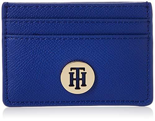 Tommy Hilfiger Womens Classic Saffiano Cc Holder Wallet Blue Cobalt