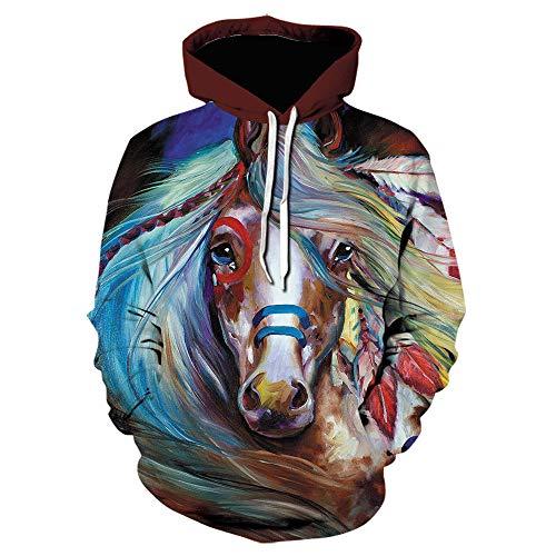 Sudaderas con capucha 3D para hombre y mujer, estampado de animales, color marrón, Color 11, 4X-Large