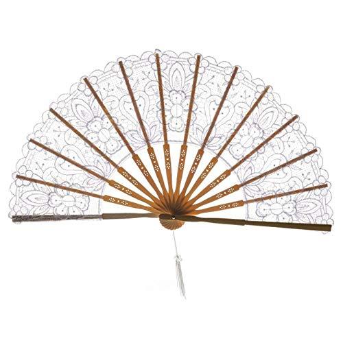 XINTIAN Abanico chino plegable de mano de seda de bambú, estilo retro, hecho a mano, herramienta de...