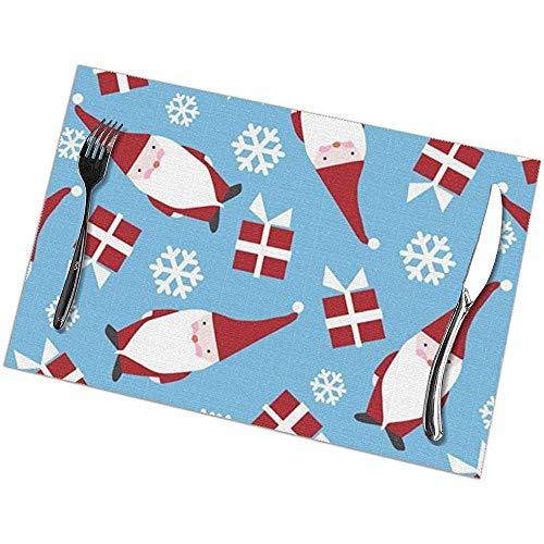 Winter-Zuid Kerstvakantie Deense Placemats voor Eettafel Set van 6 Stuks Placemats voor Keuken Eettafel