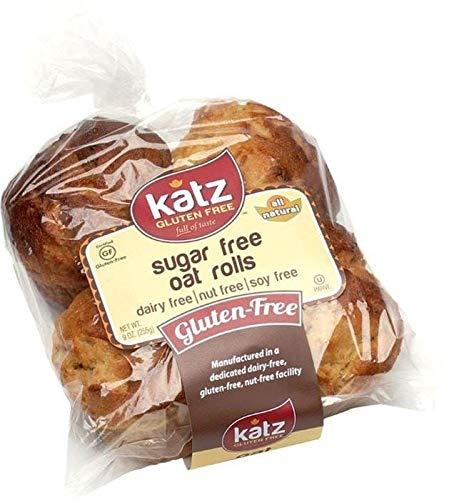 Katz Gluten Free Sugar Free Oat Rolls | Dairy, Nut, Soy and Gluten Free | Kosher (6 Packs of 4 Rolls, 9 Ounce Each)