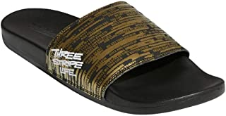 adidas Men's Adilette Comfort Sandals Gold Metallic/White/Core Black 12