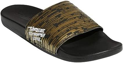 adidas Men's Adilette Comfort Sandals Gold Metallic/White/Core Black 13