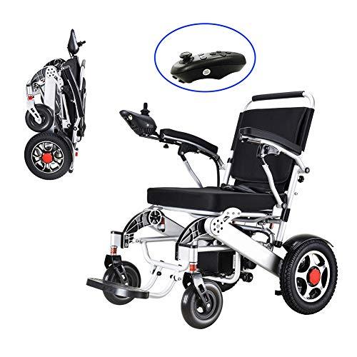 FJNS Ultraleichter Faltbarer Elektrischer Rollstuhl mit einem Wenderadius und 4 Stoßdämpfern beträgt die Last 150 kg für ältere und behinderte Menschen