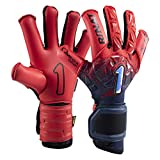 Rinat Fenix Superior Professional Soccer Goalkeeper Glove (Red/Blue, 9)