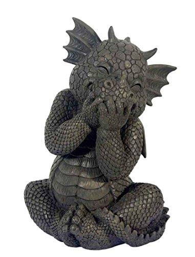 Figure de jardin dragon rire! Divertissement! Gargoyle! Figurine!