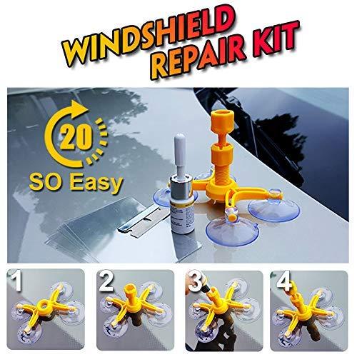 Valink Venus Professionelles Windschutzscheiben-Reparatur-Set, Glas-Korrektur-Set, Rissreparatur für Auto, Fahrzeug – 75 x 75 x 75 mm