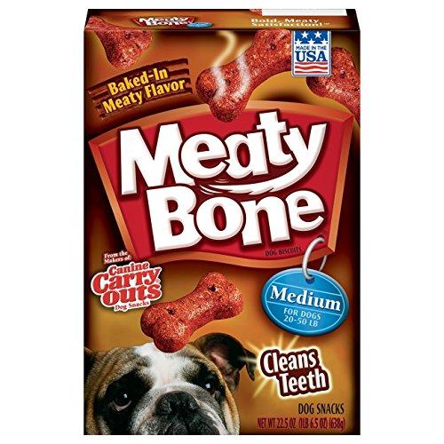 Meaty Bone Dog Treats, Medium Dogs, 22.5 Oz (Pack Of 6)