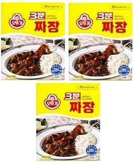 Ottogi 3 Minute Jjajang Flavor, Product of Korea 5.64 Oz Each: 3 Packs