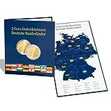 Leuchtturm 300408 PRESSO Münzalbum für 16 deutsche 2 Euro Gedenkmünzen der Bundesländer | 2 Euroserie  Deutsche Bundesländer | blau