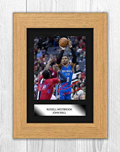 Good With Wood Yorkshire Russell Westbrook & John Wall NBA - Póster de la NBA (marco de roble)