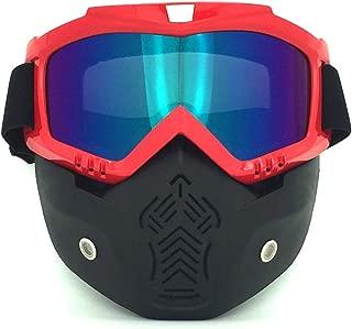 Mike Wodehous Moda Harley Gafas de Cara Retro, Gafas de esquí de Motocross