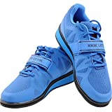 Nordic Lifting Powerlifting Shoes for Heavy Weightlifting - Men's Squat Shoe - MEGIN (Blue, 8.5 US)