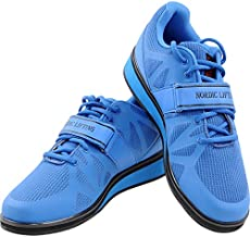 Nordic Lifting Powerlifting Shoes for Heavy Weightlifting - Men's Squat Shoe - MEGIN (Blue, 11 US)