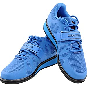 Nordic Lifting Powerlifting Shoes for Heavy Weightlifting - Men's Squat Shoe - MEGIN (Blue, 10.5 US)