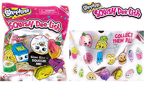 NEW! Shopkins - Squish-Dee-Lish SERIES 2 Blind Foil Bag - Super Cute Slow-Rise Squishies that are Fun to Squeeze