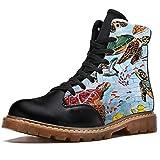 NewLL Botas de combate con cordones de ocho ojos para mujer, botas de invierno, color, talla 37 EU