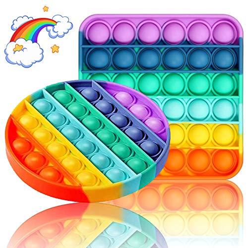 Zappel Spielzeug für 2 Stück, Pop Bubble Fidget Sensory Toy Fidget Pack lindert Stress für Kinder/Erwachsene, Zappelspielzeuggruppe zur Linderung von Angstzuständen für...