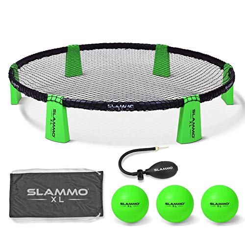 GoSports Slammo XL Game Set - Huge 48' Net | Great for Beginners, Younger Players or Group Play, Green