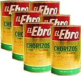 Chorizos in lard El Ebro 7.2 oz cans . 6 pack