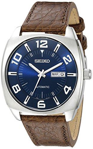 Seiko SNKN37dell' acciaio inossidabile orologio automatico con cinturino in pelle marrone
