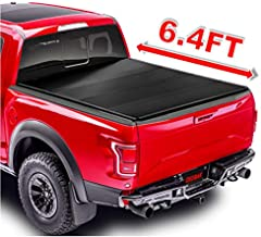 OSOBAK 6.4FT Hard Quad-Fold Truck Pickup Bed Tonneau Cover For 2002-2018 Dodge Ram 2500 3500 2002-2021 Dodge Ram 1500 | Fleetside