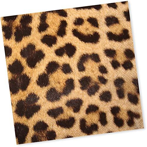 20 Servietten * Leopard * für Geburtstag, Party und Mottoparty   Napkins Papierservietten Raubtiere Set
