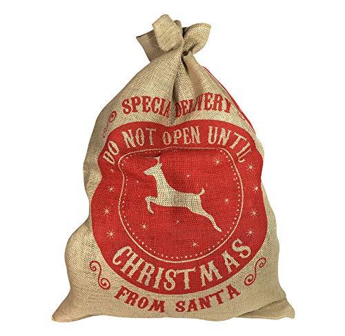 zeitzone Nikolaussack Special Delivery from Santa Jutesack Geschenkesack Weihnachtsmannsack 72x50cm