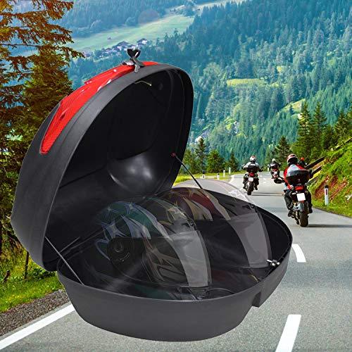 Sotech - Top-Box für Helm, Universal Topcase, Schwarz, 52 Liter, Material: PP, Größe: 59,5 x 43,5 x 31 cm