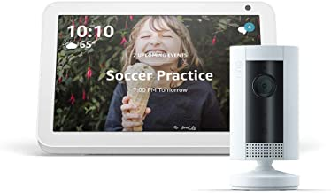 Echo Show 8 (Sandstone) with Ring Indoor Camera