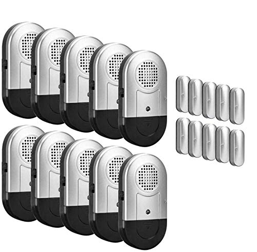 Sanjie Door Window Alarm 10 PCS Wireless Home Security Magnetic Sensor...