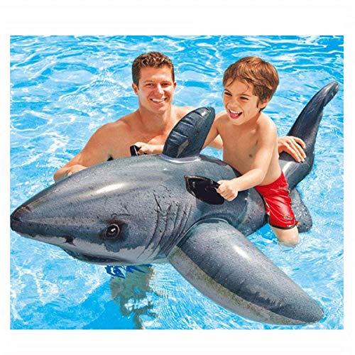Outdoor Beach Pool Kinder- / Erwachsenenunterhaltung schwimmende Reihe, Great White Shark Riding Mount Kinder Schwimmspielzeug Luftmatte, Kinderbecken schwimmt Umweltschutz PVC Sicherheit