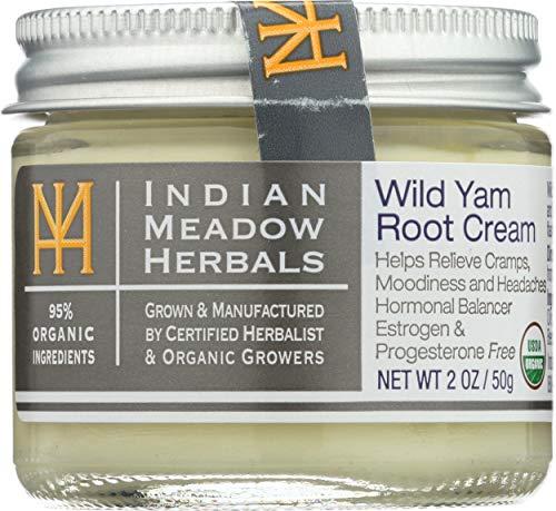 INDIAN MEADOW HERBALS Organic Cream Wild Yam Root, 2 OZ